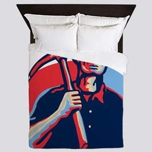 Coal Miner Pick Axe Retro Queen Duvet
